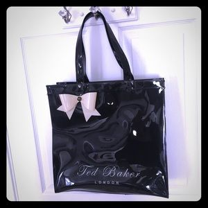 Ted Baker Patent tote bow jelly